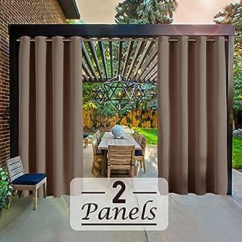 Amazon Com Rhf Outdoor Blackout Curtains Patio Curtains