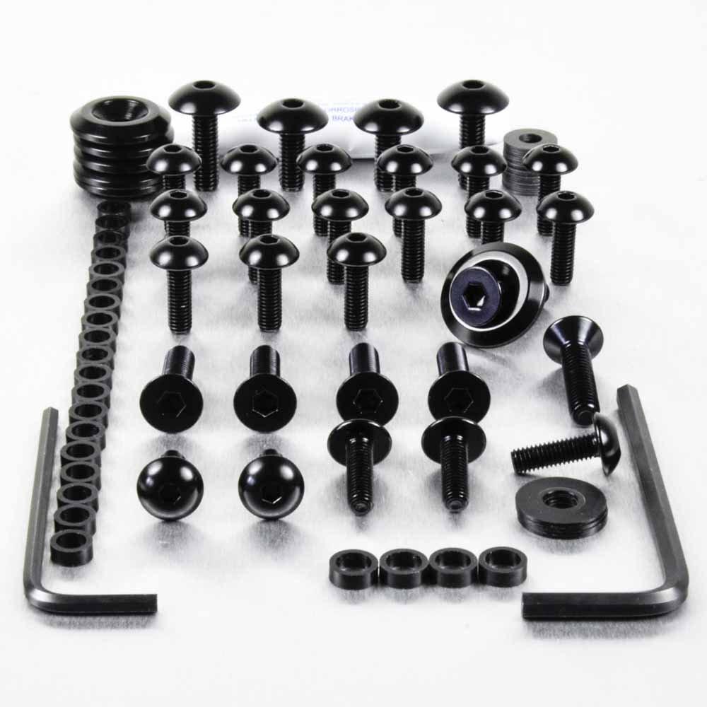 Kit visserie car/Ã/©nage en aluminium ZZR1100 C-D 90-02 Noir