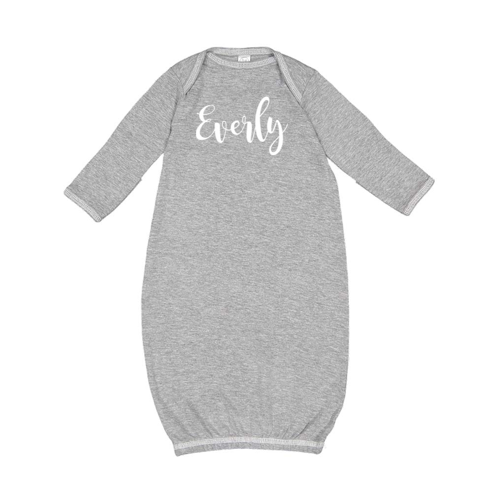 Personalized Name Baby Cotton Sleeper Gown Everly