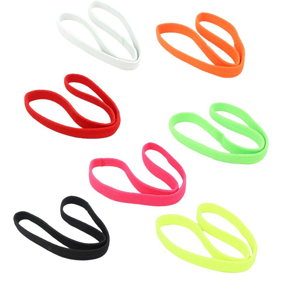 yoga Kanggest equitazione per uomini e donne colore casuale multicolore per jogging sport con la palla sportive 7 fasce elastiche anti sudore per la testa