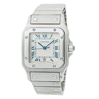 90f687222934 Amazon.com  Cartier Santos Galbee Quartz Male Watch 1564 (Certified ...