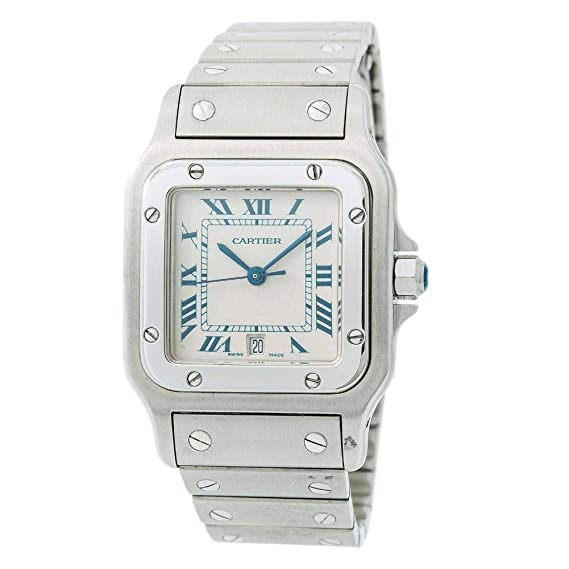 Cartier Santos Galbee 1564 - Reloj de Cuarzo para Hombre (Certificado de autenticidad)