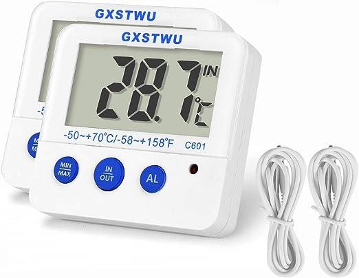 Termómetro para frigorífico o congelador con memoria máxima y ...