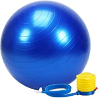 FEGSY Anti-Burst Exercise Gym Ball 75cm with Pump, Anti-Slip Balance Stability Ball, Heavy Duty Fitness Yoga Ball, Extra Thick Swiss Birthing Ball