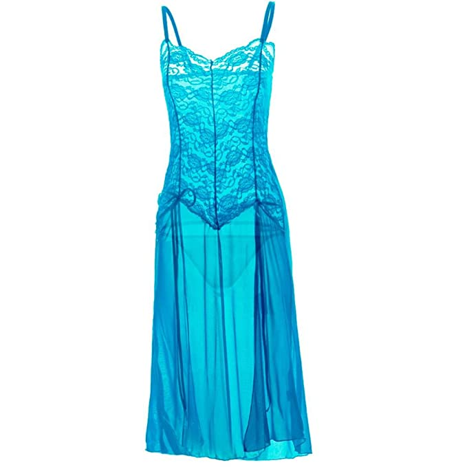 Camisón Mujer Talla Grande FAMILIZO Mujeres Lace Lingerie Babydoll Vestido Pijamas Ropa interior Ropa de dormir