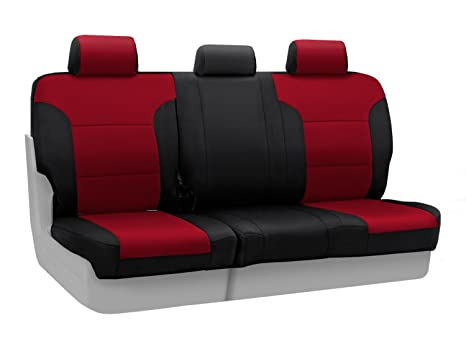 Excellent Coverking Custom Fit Rear 60 40 Bench Seat Cover For Select Dodge Grand Caravan Models Neoprene Red With Black Sides Pabps2019 Chair Design Images Pabps2019Com