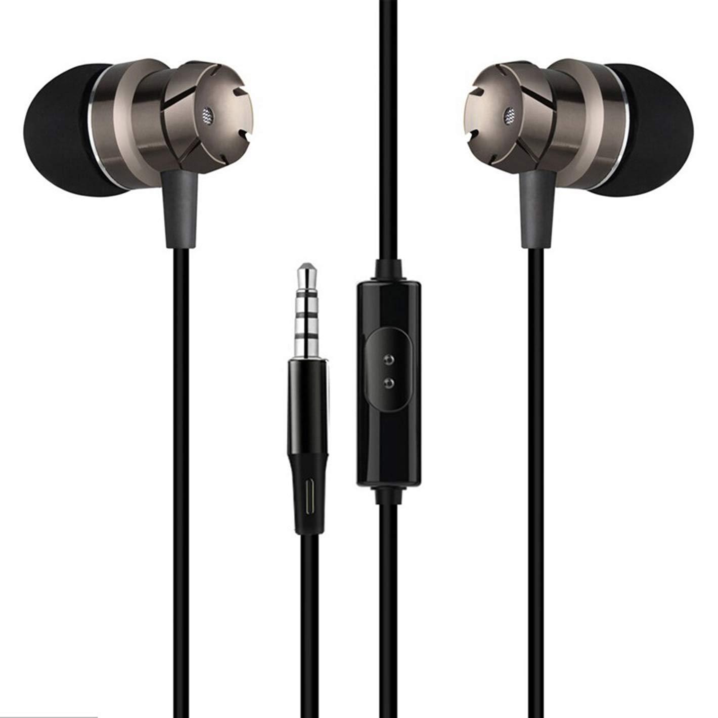 3.5mm Earphones, in-Ear Sweatproof Headphones with Mic, Sweatproof Earbuds for Gym Running
