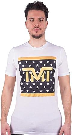 TMT - Camiseta de manga corta para hombre y mujer, diseño de estrellas de verano, color blanco Bianco XL: Amazon.es: Ropa y accesorios