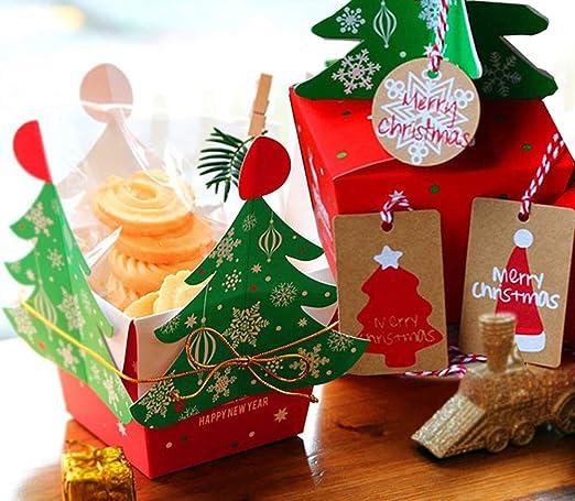 Kungfu Mall - Papel de regalo para Navidad, 10 unidades de caja de ...