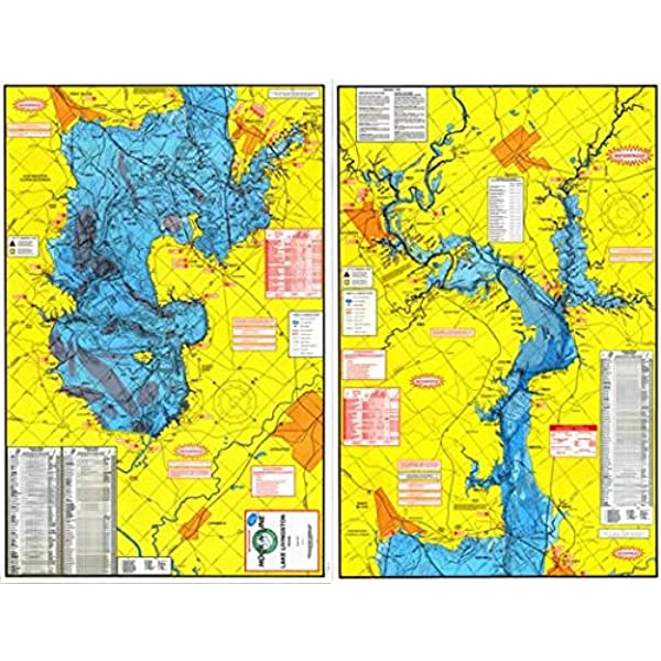 lake livingston map fishing Amazon Com Topographical Fishing Map Of Lake Livingston With lake livingston map fishing