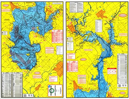 Topographical Fishing Map of Lake Livingston - With GPS ()