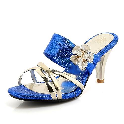 Zapatos de Mujer PU Summer Comfort Slingback Zapatillas y Chanclas Zapatos para Caminar Tacón de Aguja
