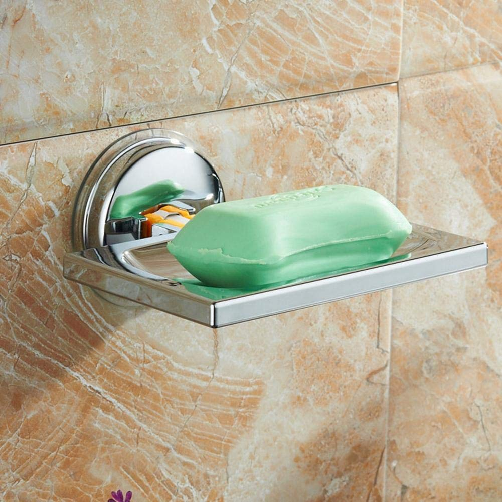 COTOWIN Bathroom Strong Suction Cup soap Holder Storage Shelf Square 1 Pack