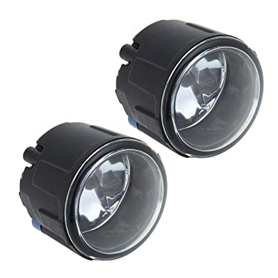 Pair Fog Light For Nissan Cube Juke Quest Murano Rogue Versa For Infiniti FX EX QX M G Q Glass Lens Lamps with Halogen Bulbs: Automotive