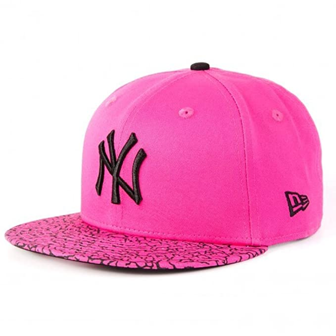 New Era Mujeres Gorras / Gorra Snapback Crackled Bright NY Yankees fucsia Regulable: Amazon.es: Ropa y accesorios