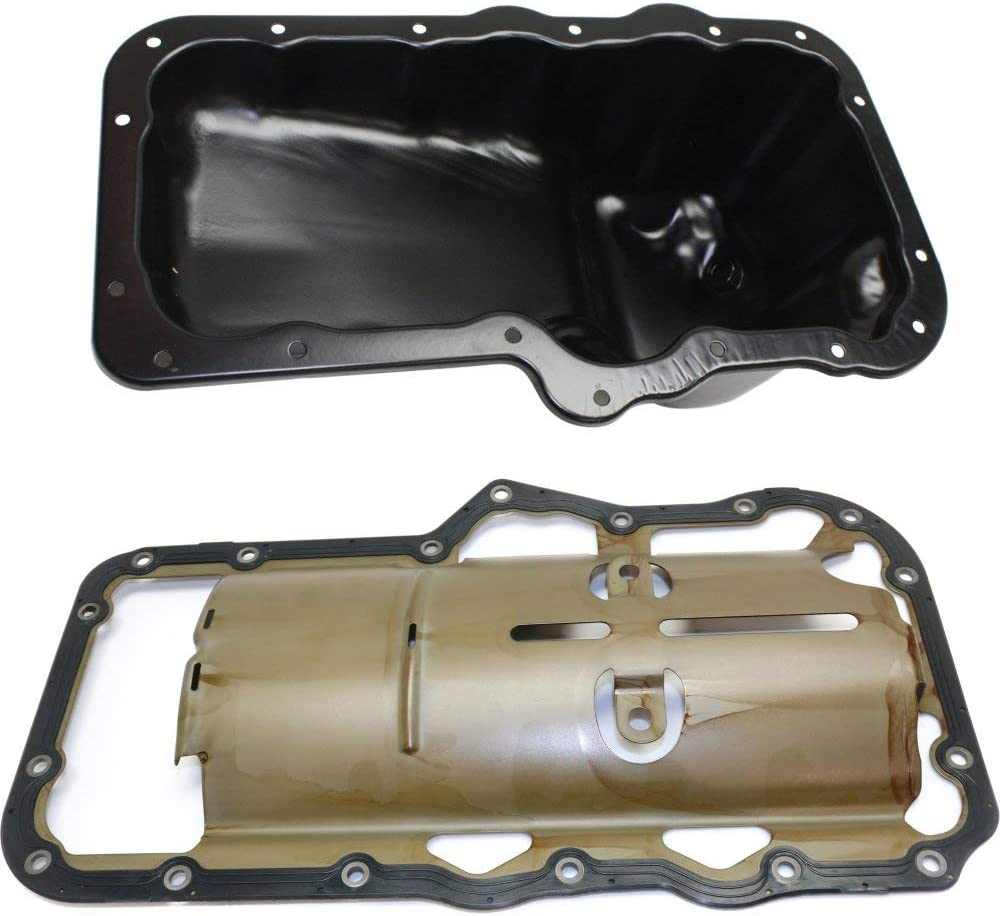 Engine Oil Pan for Ram 1500 Liberty 02-12 Set of 2 With Oil Pan Gasket