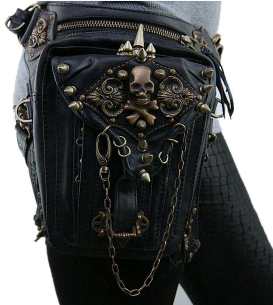 Punk family Damen Fashion Steampunk Schulterschlung-Multifunktions-Handy-Tasche