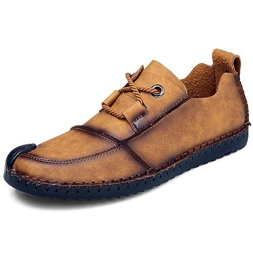 2d0b97fae7071 Zapatos de Cuero Casual de los Hombres Loafer en la conducción de Oxford  Causal Suave para Caminar al Aire Libre  Amazon.es  Zapatos y complementos