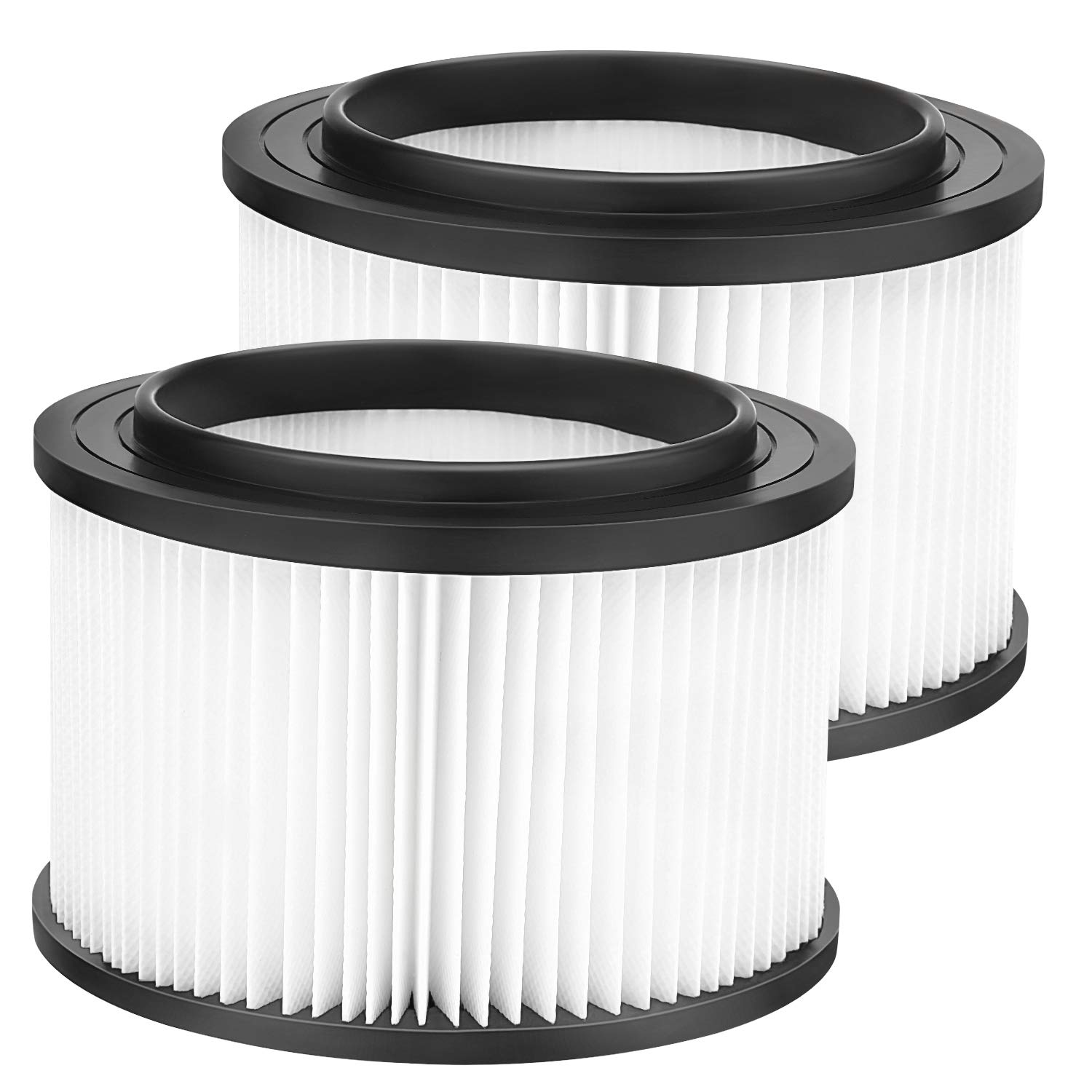 isinlive 917810 Replacement Filter for Craftsman Shop Vacuum Fits 3 & 4 Gallon Cartridge Filter Wet Dry Vacuum Filter Replace Part (2 Pack) by isinlive