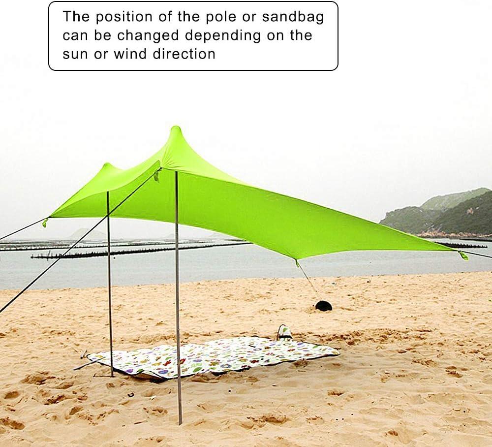 Color : Brown HAIYOUSHANGMAO Playa de toldo Plegable Ultraligero de Invierno al Aire Libre de Hielo Pesca Camuflaje Tienda de campa/ña del Partido Parasol Refugio a Prueba de Agua
