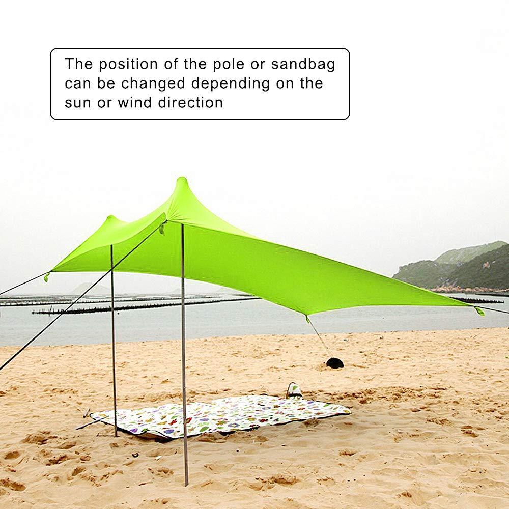 Port/átil Refugio Playa 100/% Lycra UPF50 XISHUAI Carpa Playa con Ancla de Arena UV Protection 2.1m x 2.1m para Ni/ños Bebe Familia Vacaciones