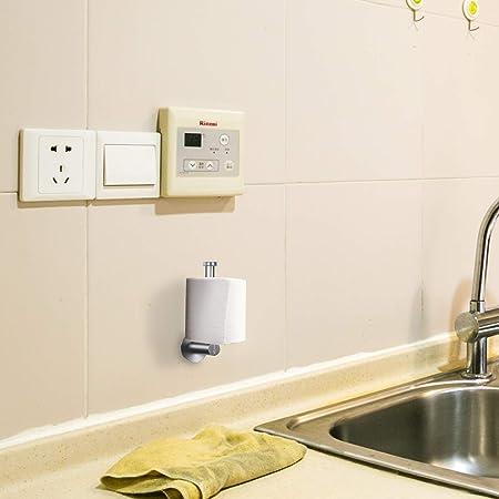 Portarrollos MEZOOM 2pcs cuelga papel higienico de 304 acero inoxidable soporte rollo papel higienico de 3M adhesivo fuerte para colgar papel del ...