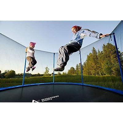 Filet de sécurité pour trampoline Ø245cm 6barres, Ø305cm 6barres ,Ø305cm 8barres, Ø366cm 8barres, Ø396cm 8barres, Ø430cm 8barres - Barres et Coussin non inclus (Filet de