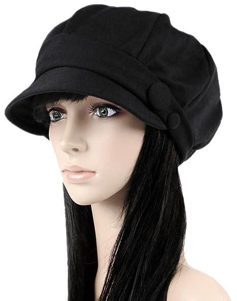 Ls Lady Octagonal Cap Beret Newsboy Cap Ray Limpets Winter Hat Womens  Cap  (One 044b7d49a80