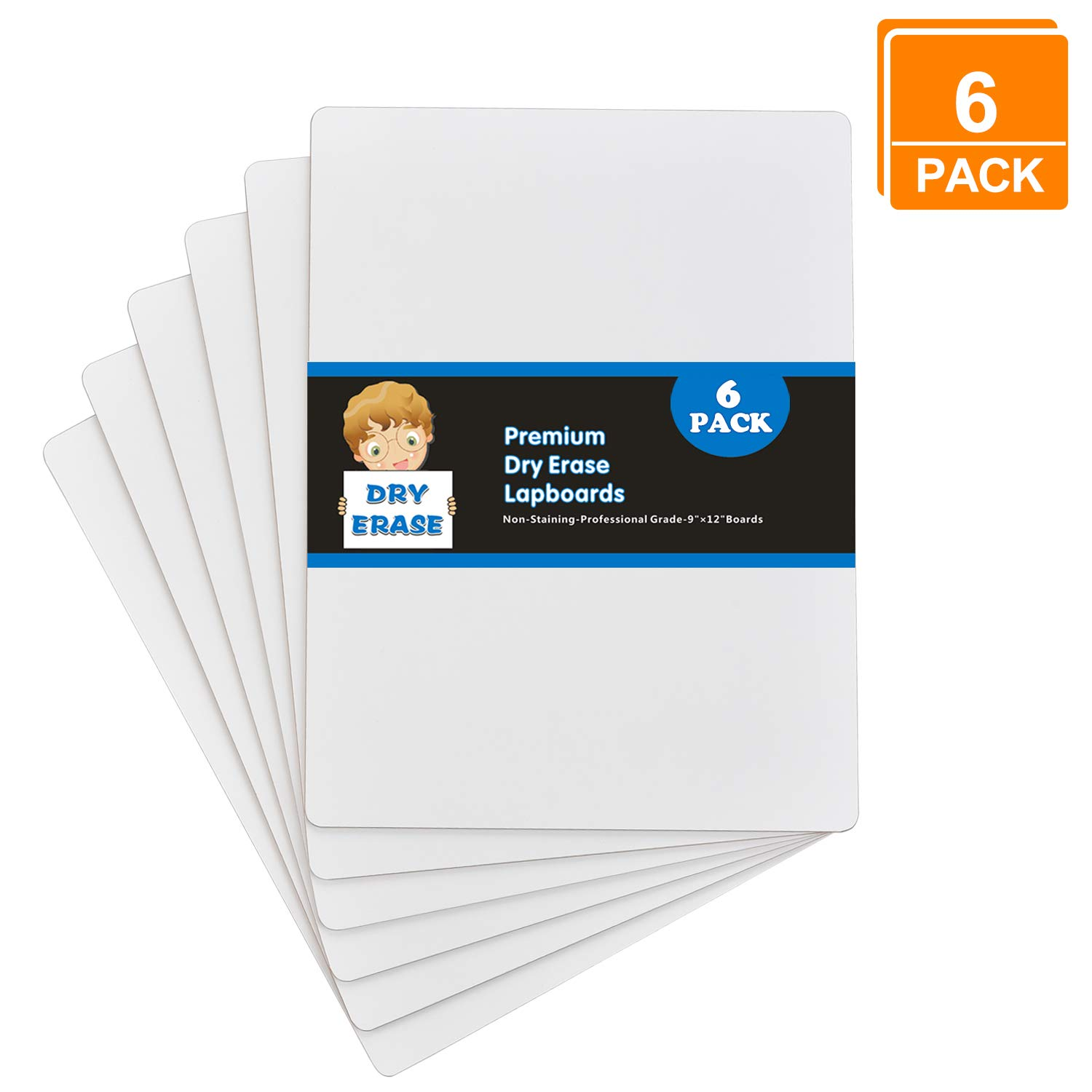 """9/"""" X 12/"""" Classroom marker boards set of 25"""