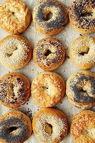 1800nycbagels Party Pack 2 Dozen Fresh NYC Bagels 6 Pumpernickel 6 Plain 6 Cinnamon Raisin 6 Sesame Seed