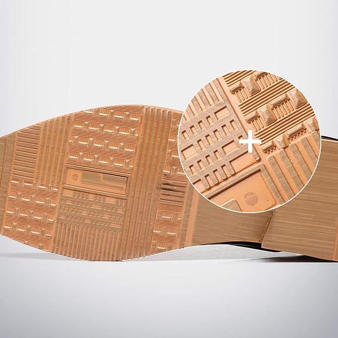 WMZQW Zapatos Oxford para Hombre Comodos Cuero Brogue Cordones ...