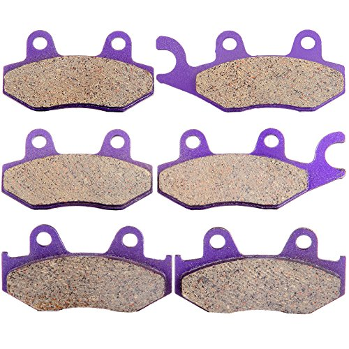 ECCPP FA135 FA165 FA323 Brake Pads Front and Rear Carbon Fiber Replacement Brake Pads Kits Fit for 2006 2007 2008 2009 2010 2011 2012 2013 2014 2015 Yamaha