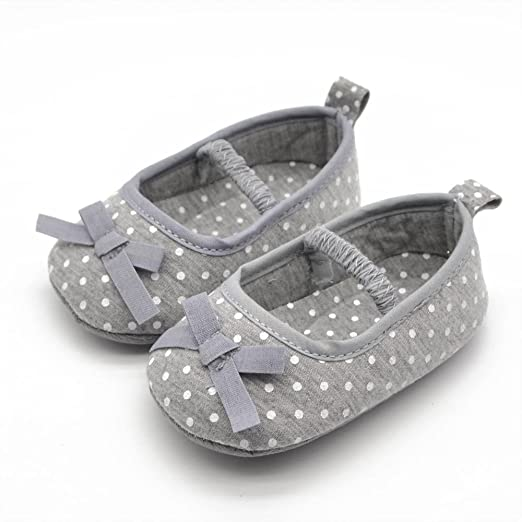 Baby Shoes Cute Toddler Baby Girls Soft Bottom Shoes Polka Dots Bow-knot Prewalker For Kids