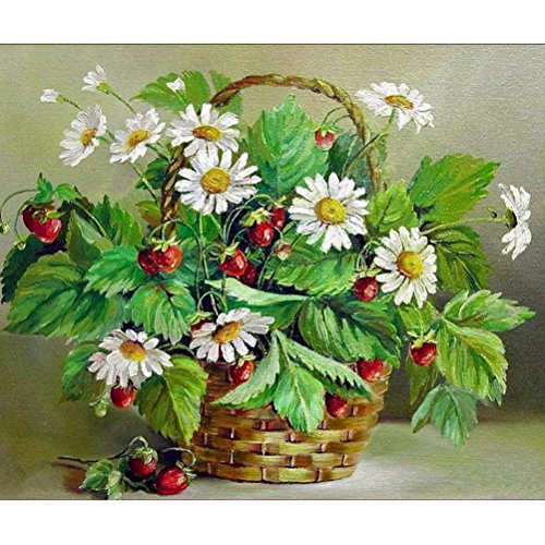 e Decor 5D Flower Basket DIY Diamond Painting Embroidery Cross Craft Stitch Animal Home Decor Art Wall Sticker For Walls (Multicolor) (Butterfly Dreams Flower Girl Basket)