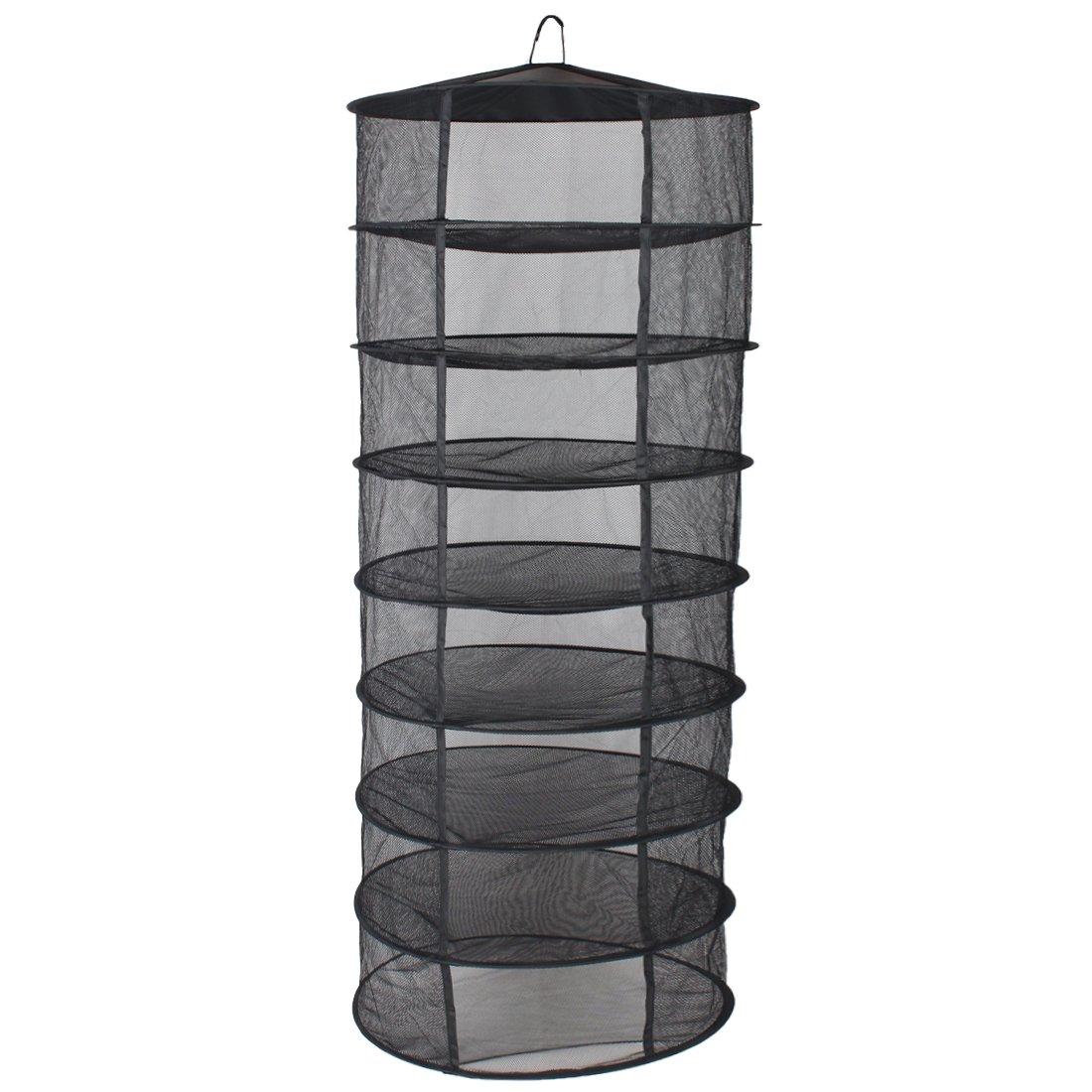 G-LEAF 2-Feet 8-Layer Black Easy Dry Rack Net for plants by Smile Bud