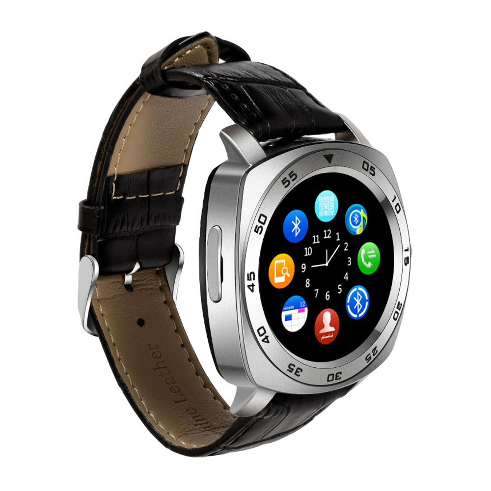 TechComm DM87 Bluetooth and GSM Unlocked Smartwatch with Built-in Camera, Smart Alerts, Fitness Tracker, Sleep monitor, Loss Prevention and Sedentary ...
