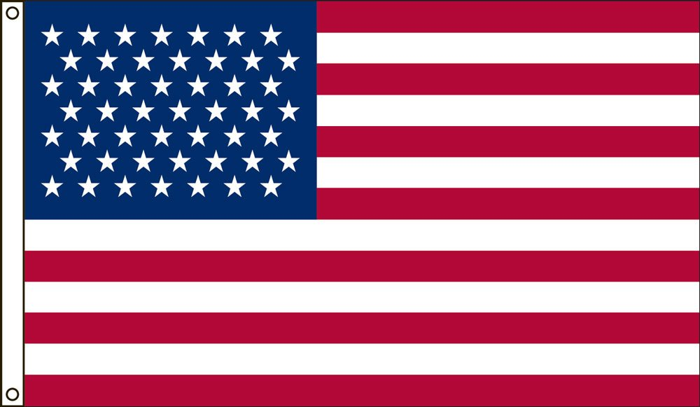 America's Flag Company 3-Foot by 5-Foot Nylon 49 Star United States Historical Flag with Canvas Header and Grommets by America's Flag Company