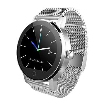HXZB Reloj Inteligente, Compatible con Android 4.4/iOS 7.0 o Superior Reloj de Llamada Bluetooth-Ejercicio Paso de Ritmo cardíaco monitoreo del sueño ...