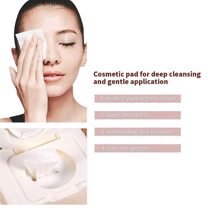 350pcs Almohadillas de Algodón cosmético para limpieza facial de remover Maquillaje: Amazon.es: Belleza