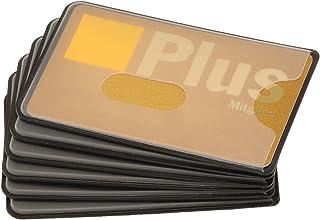 valonic TÜV geprüfte RFID Kreditkartenhülle, 6 Stück, transparent und trotzdem abgeschirmt, Loch Ausschnitt, Stabiler Kunststoff, NFC Blocker, EC Karten, Kartenhülle, Schutzhülle, Kreditkarte