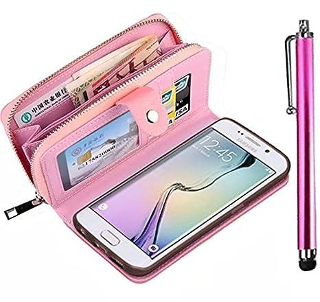 Samsung Galaxy Grand Prime G530 Case, Vandot Premium Funda de piel con Cremallera Tipo Cartera