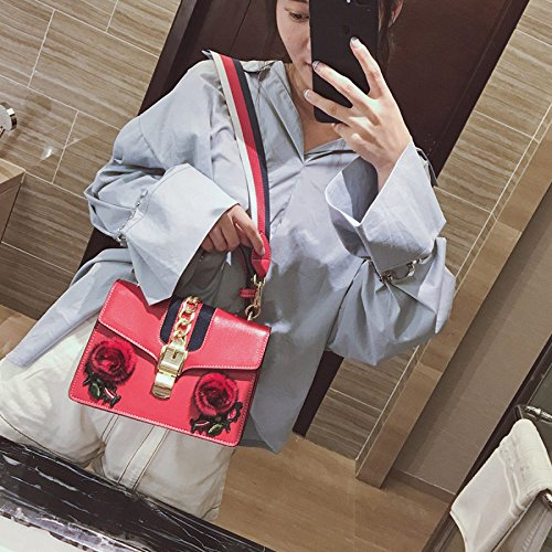 Wenl Borse Handbags New Tracolla Party Per Da Bags Diagonal Totes Red Mazze black Shoulder A Fashion Roses Package 4z4Eqwr