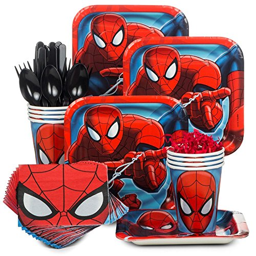 Spiderman Party Supply Standard Kit (Serves 8)