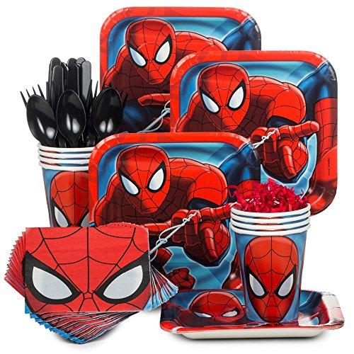 Spiderman Party Supply Standard Kit (Serves (Spiderman Cake Ideas)
