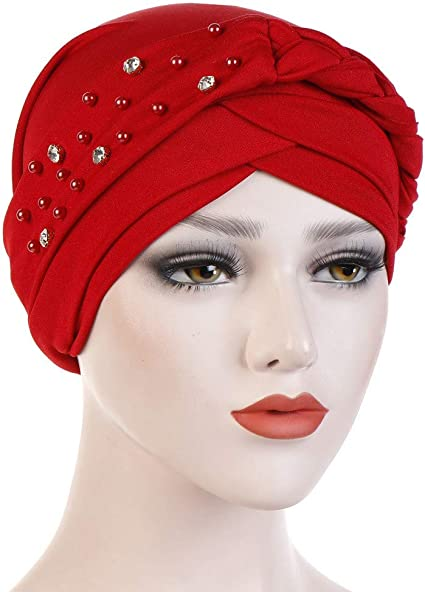 RISTHY Pañuelos Oncologicos para Mujer,Musulmán Turbante Elástico ...