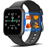 MorePro Blood Oxygen Heart Rate Monitor Smart Watch with 18 Sport Modes, DIY Screen Fitness Tracker with Music Control…