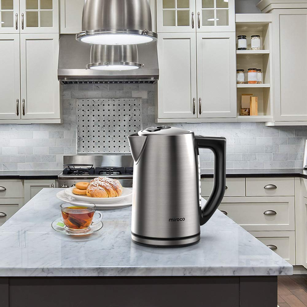 Miroco Electric Kettle Temperature Control Stainless Steel 1.7 L Tea Kettle, BPA-Free Hot Water Boiler Cordless with LED Indicator, Auto Shut-Off, Boil-Dry Protection, Keep Warm, 1500W Fast Boiling by Miroco (Image #7)
