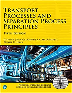 transport processes and separation process principles 5th edition prentice hall international series in