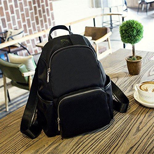 RFVBNM Mochila de las mujeres mochila de moda Bolsas de alta calidad para mujer mochila bandolera Oxford moda de tela Lady mochila bolsa de nylon mejor regalo para las niñas 32 * 34 * 11 cm, negro Negro