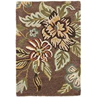 Safavieh Blossom Collection BLM920A Handmade Brown and Multi Premium Wool Area Rug (3 x 5)